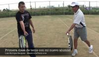 Clase de Tenis Con Mi Nuevo Alumno
