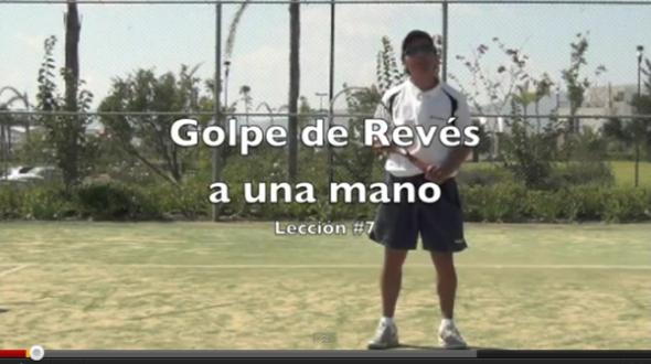 Golpe de revés a una mano - Clases de Tenis